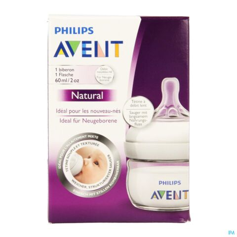 PHILIPS AVENT NATURAL ZUIGFLES FIRST 60ML