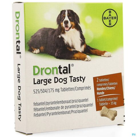 DRONTAL LARGE DOG TASTY 525/504/175MG COMP 1X2